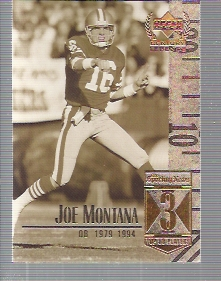 1999 Upper Deck Century Legends #3 Joe Montana