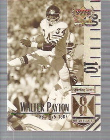 1999 Upper Deck Century Legends #8 Walter Payton