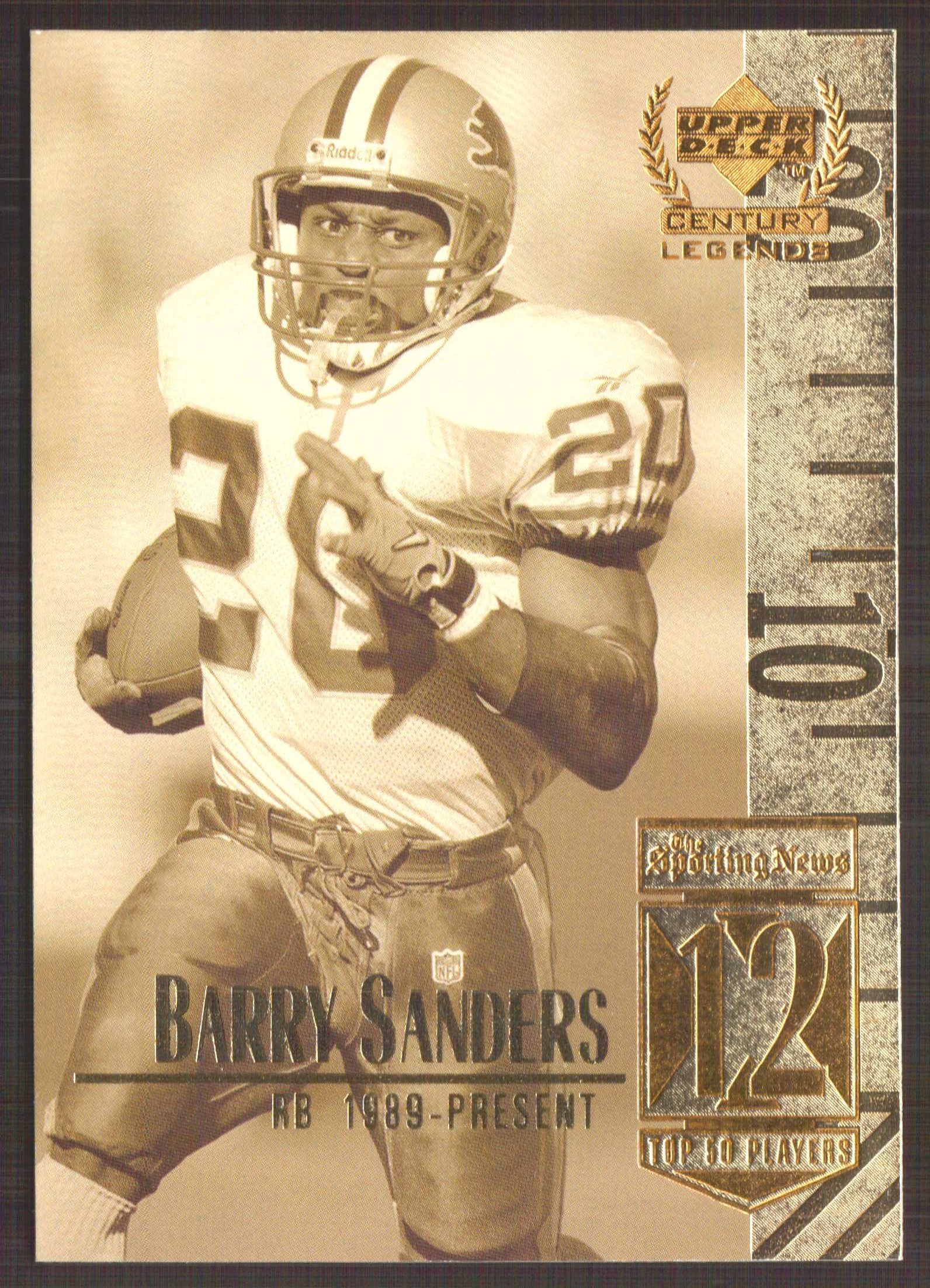 1999 Upper Deck Century Legends #12 Barry Sanders