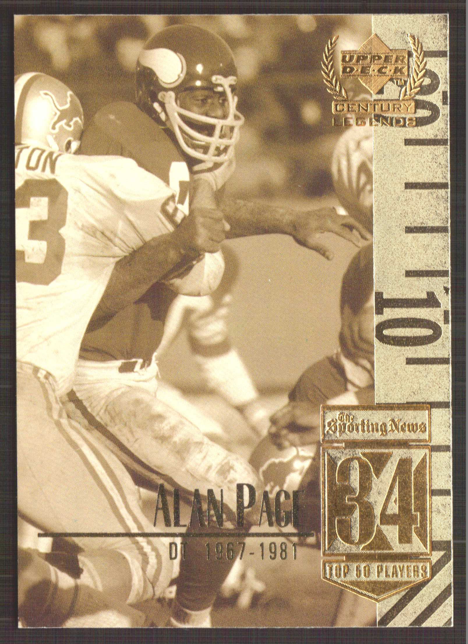 1999 Upper Deck Century Legends #34 Alan Page