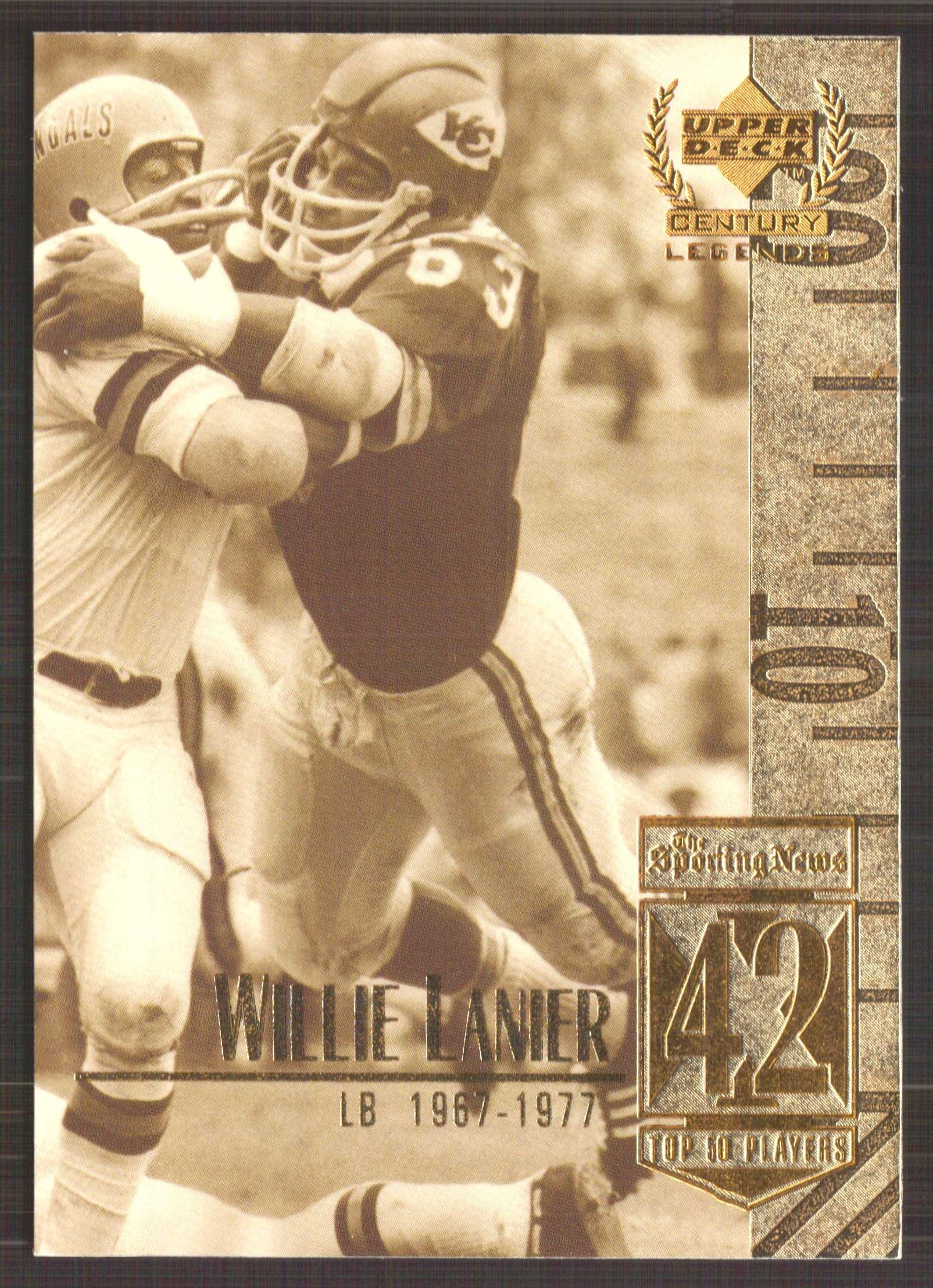 1999 Upper Deck Century Legends #42 Willie Lanier