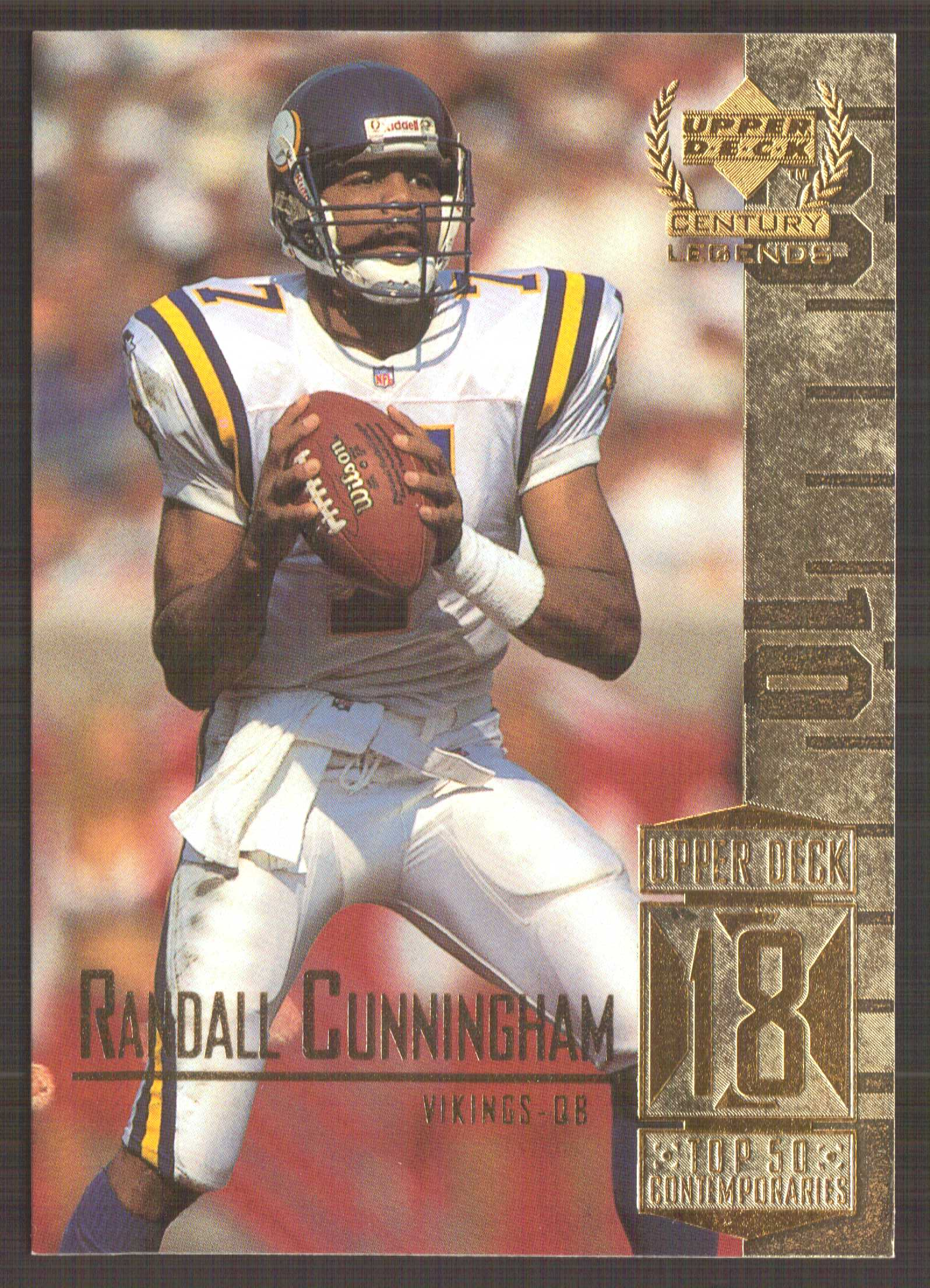1999 Upper Deck Century Legends #68 Randall Cunningham