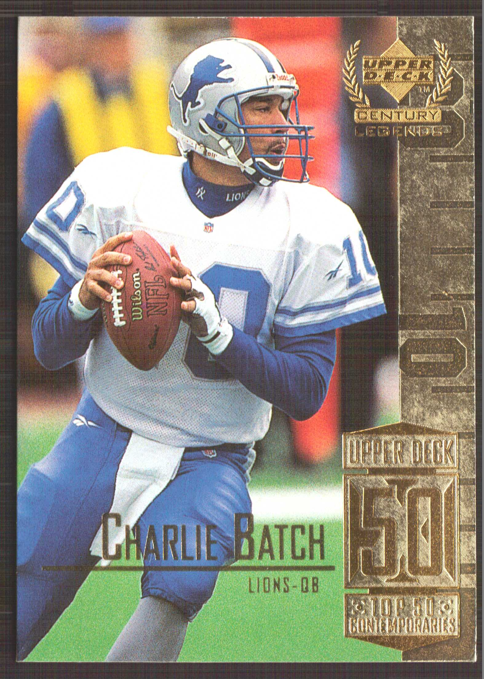 1999 Upper Deck Century Legends #100 Charlie Batch