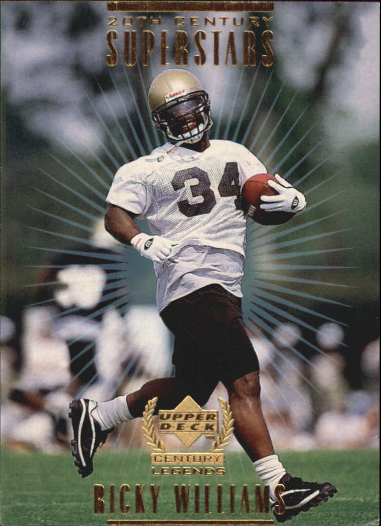 1999 Upper Deck Century Legends 20th Century Superstars #S2 Ricky Williams front image