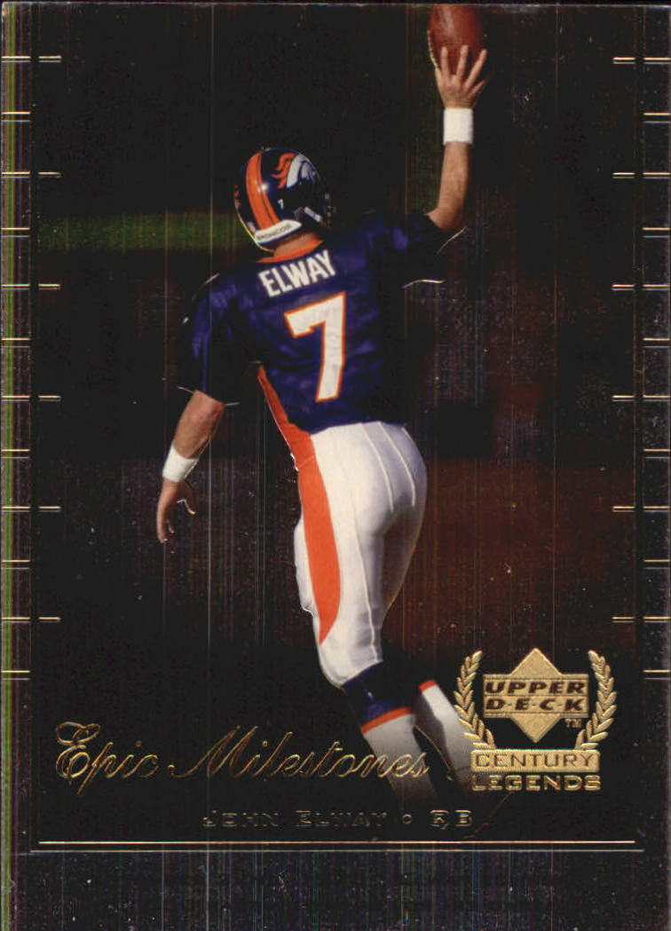 1999 Upper Deck Century Legends Epic Milestones #EM1 John Elway