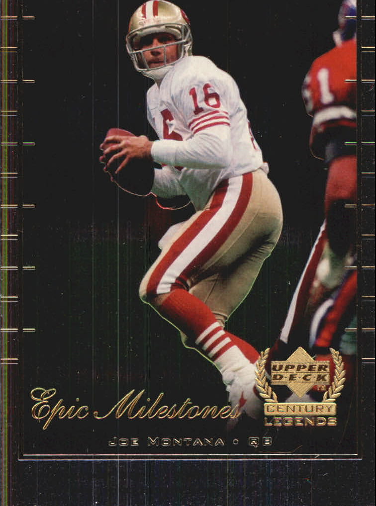 1999 Upper Deck Century Legends Epic Milestones #EM2 Joe Montana front image