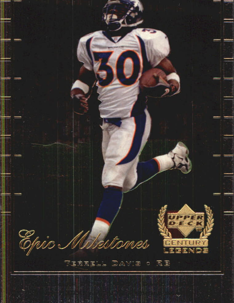 1999 Upper Deck Century Legends Epic Milestones #EM4 Terrell Davis