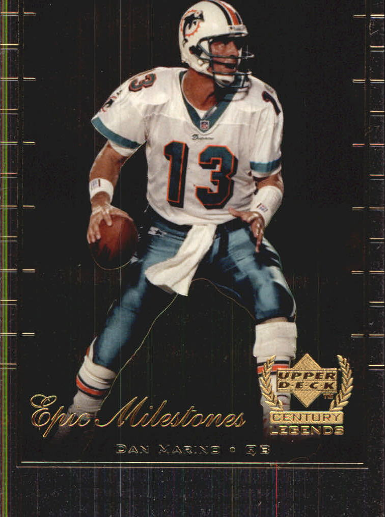 1999 Upper Deck Century Legends Epic Milestones #EM5 Dan Marino