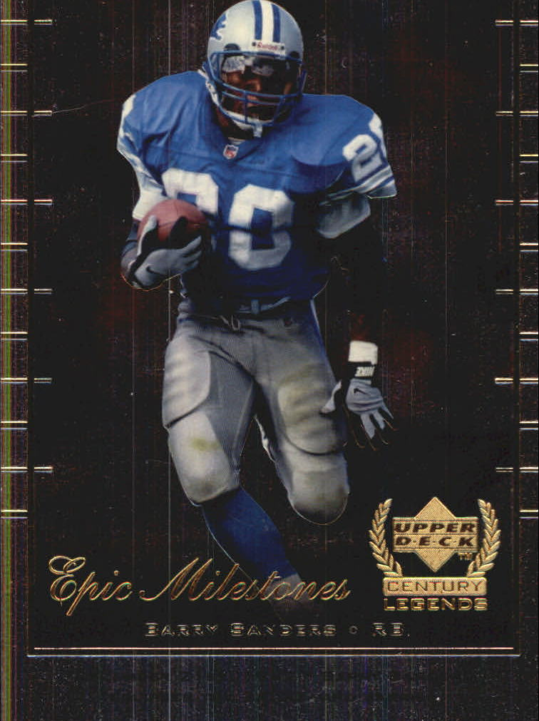 1999 Upper Deck Century Legends Epic Milestones #EM8 Barry Sanders front image
