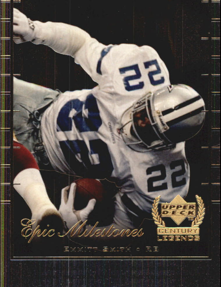 1999 Upper Deck Century Legends Epic Milestones #EM9 Emmitt Smith