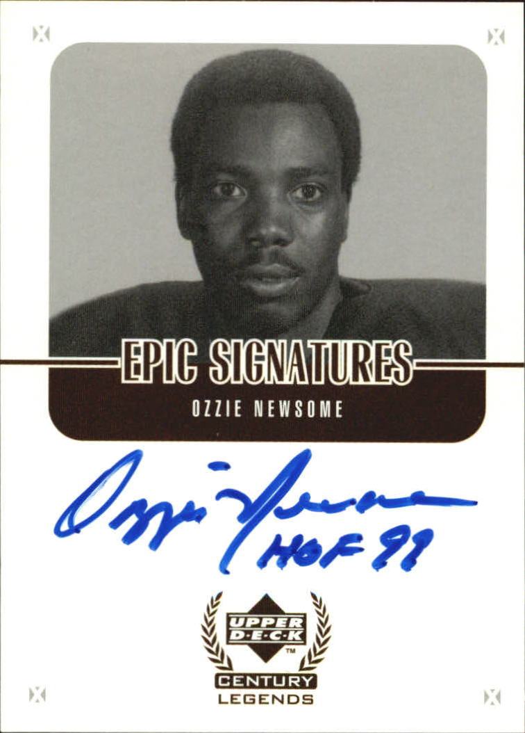 1999 Upper Deck Century Legends Epic Signatures #ON Ozzie Newsome
