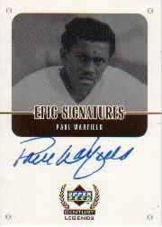 1999 Upper Deck Century Legends Epic Signatures #PW Paul Warfield