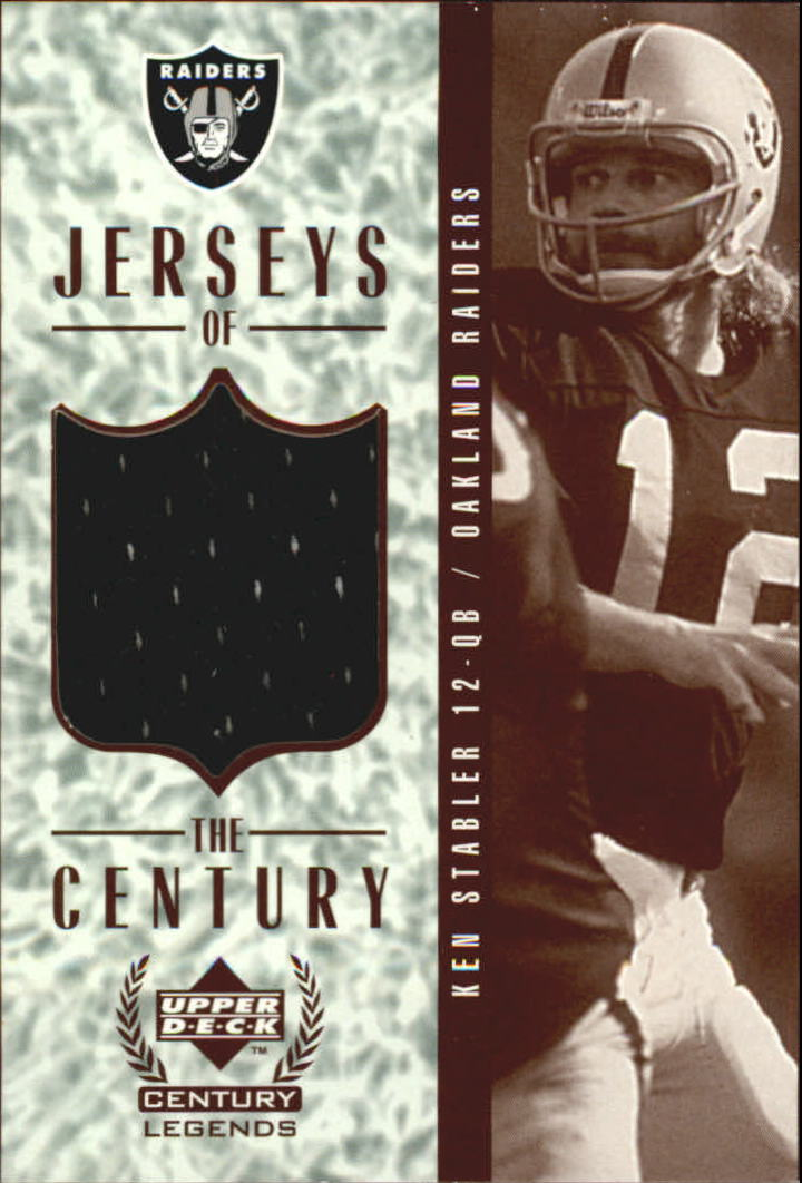 1999 Upper Deck Century Legends Jerseys of the Century #GJ4 Ken Stabler