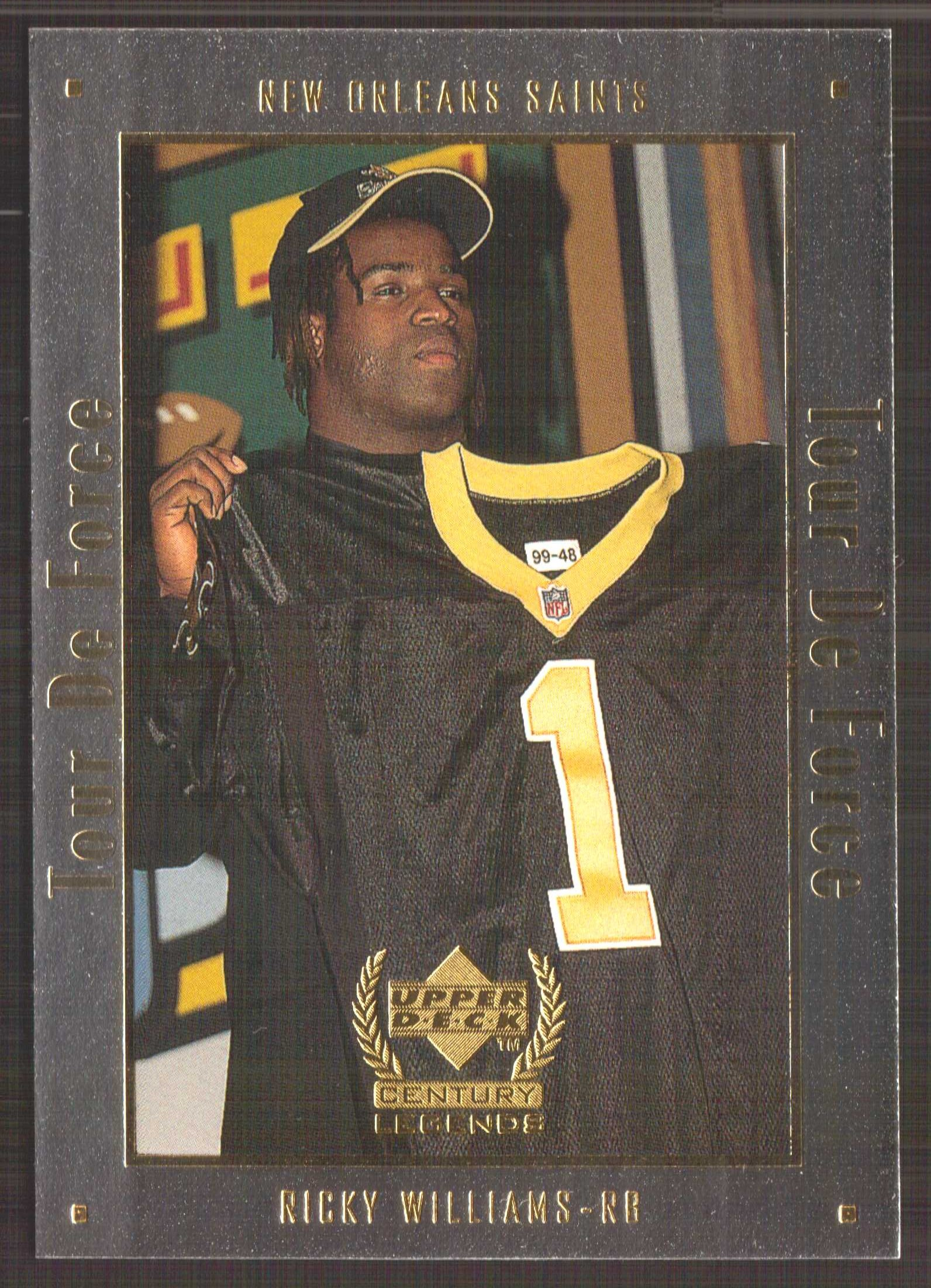 1999 Upper Deck Century Legends Tour de Force #A2 Ricky Williams front image