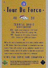 1999 Upper Deck Century Legends Tour de Force #A7 Terrell Davis back image