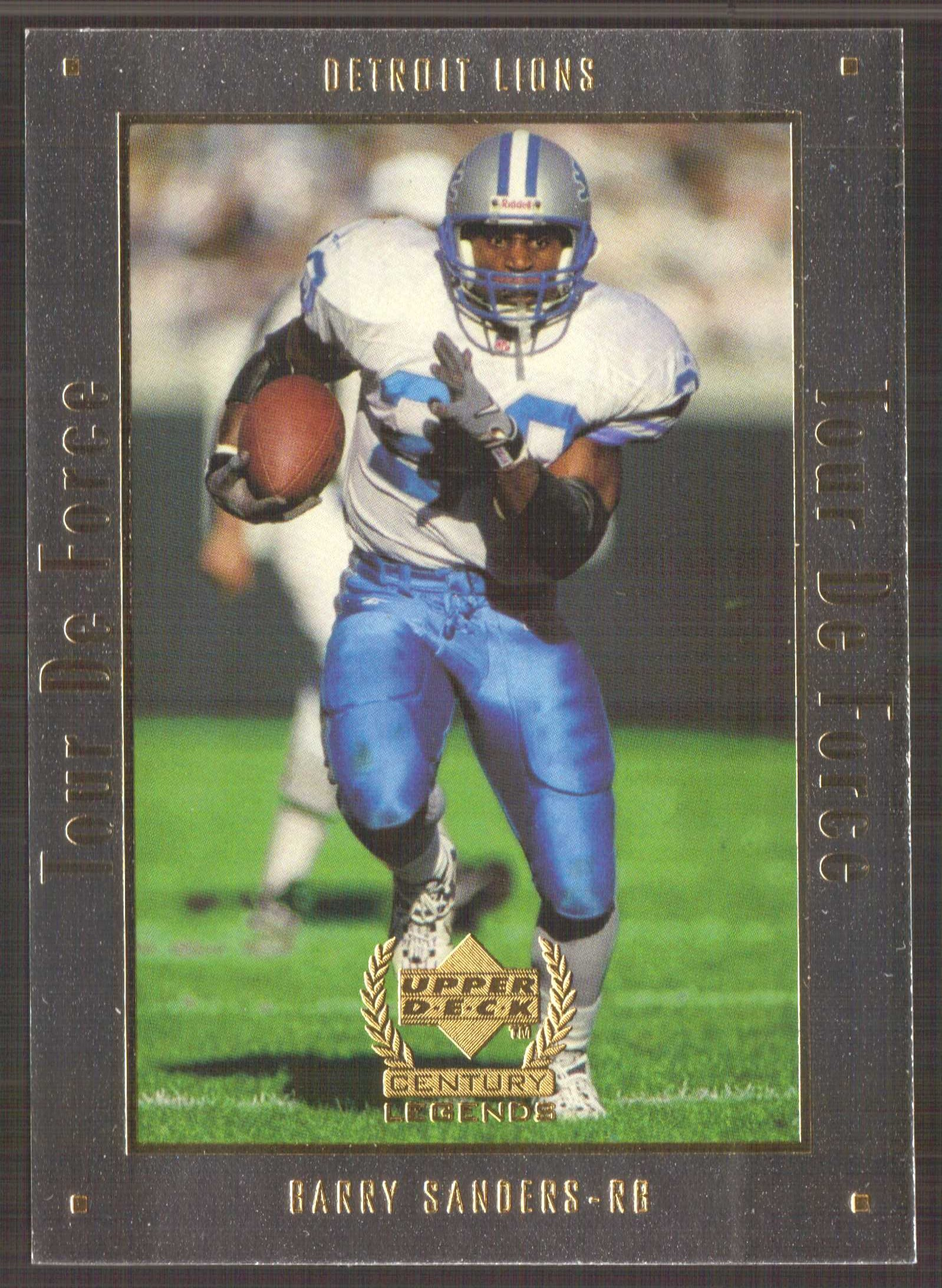 1999 Upper Deck Century Legends Tour de Force #A8 Barry Sanders front image