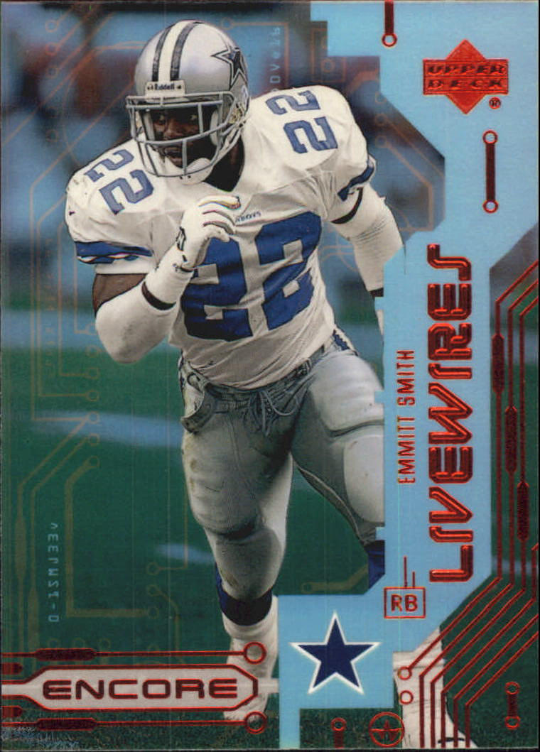 1999 Upper Deck Encore Live Wires #L3 Emmitt Smith front image