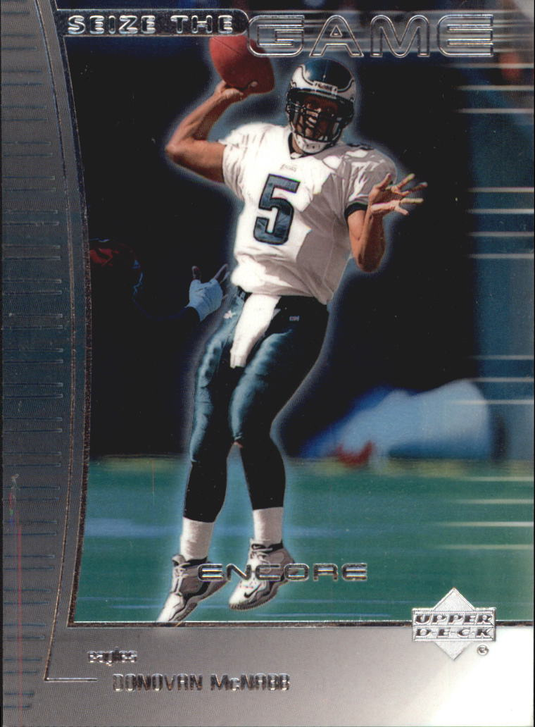 1999 Upper Deck Encore Seize the Game #SG1 Donovan McNabb front image