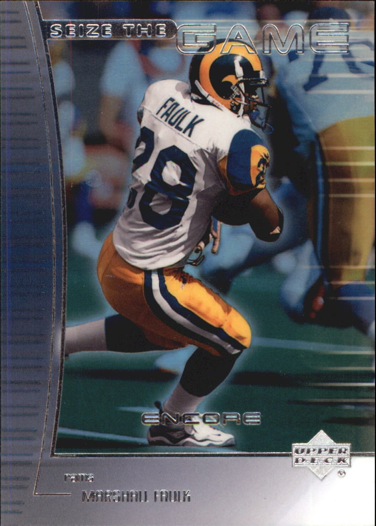 1999 Upper Deck Encore Seize the Game #SG10 Marshall Faulk