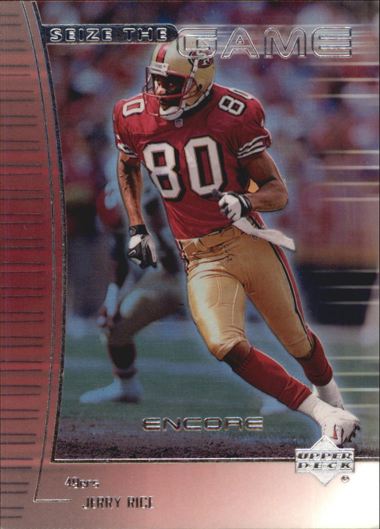 1999 Upper Deck Encore Seize the Game #SG16 Jerry Rice front image