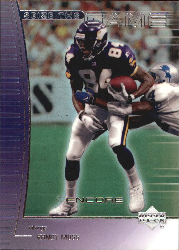 1999 Upper Deck Encore Seize the Game #SG22 Randy Moss