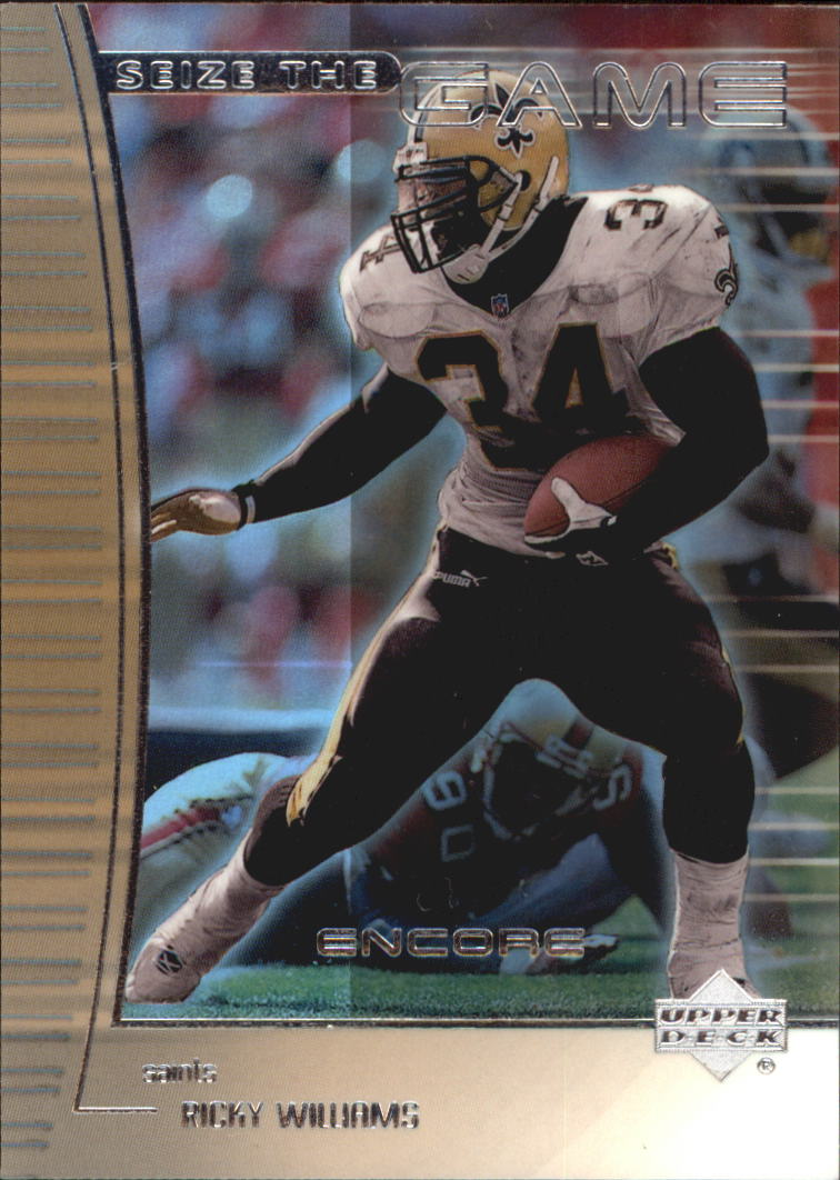 1999 Upper Deck Encore Seize the Game #SG25 Ricky Williams front image