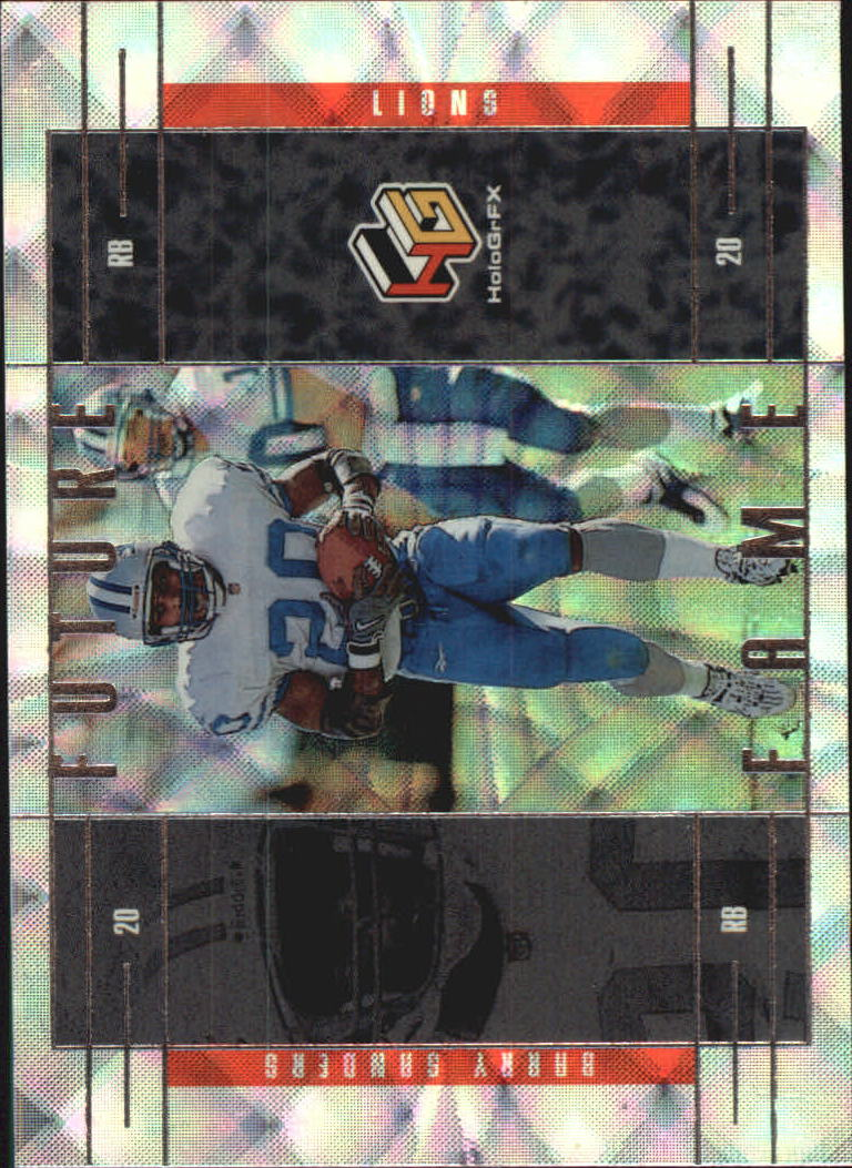 1999 Upper Deck HoloGrFX Future Fame #FF6 Barry Sanders