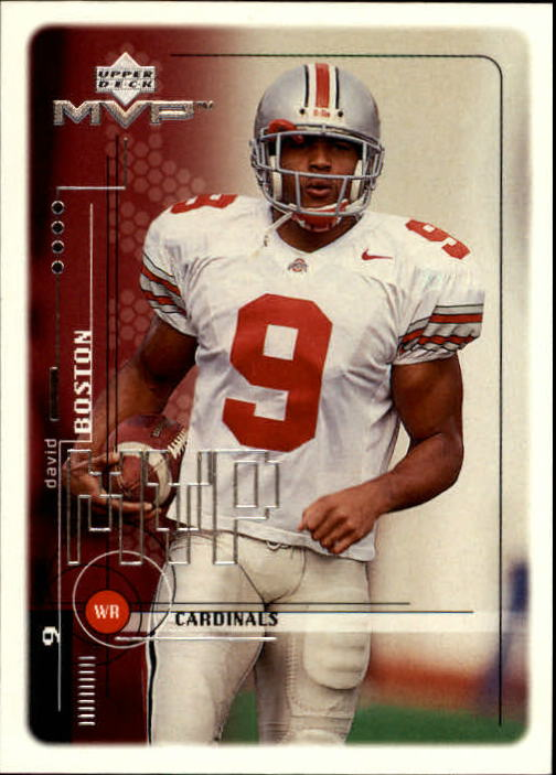 1999 Upper Deck MVP #207 David Boston RC