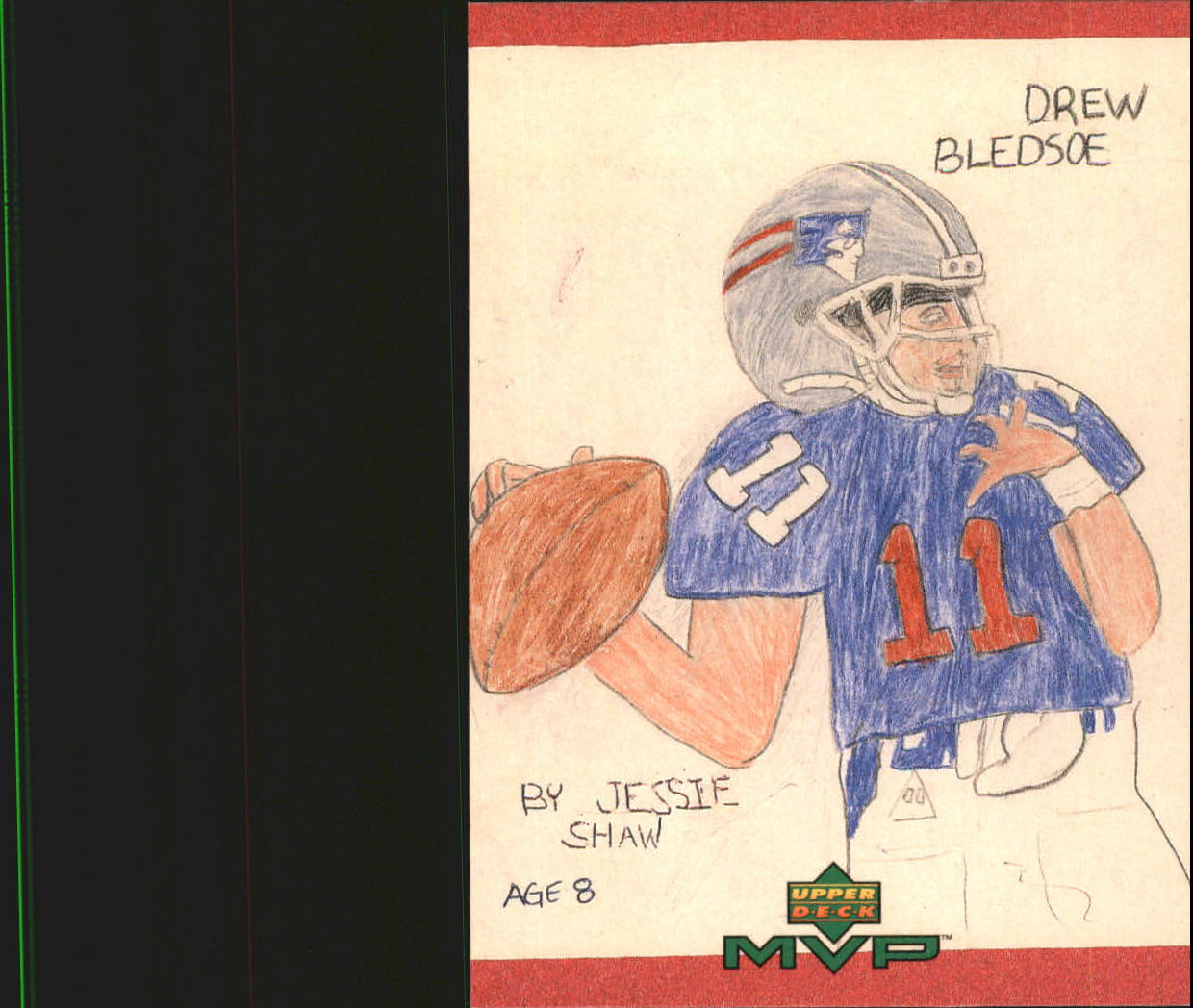 1999 Upper Deck MVP Draw Your Own Card #W8 Drew Bledsoe