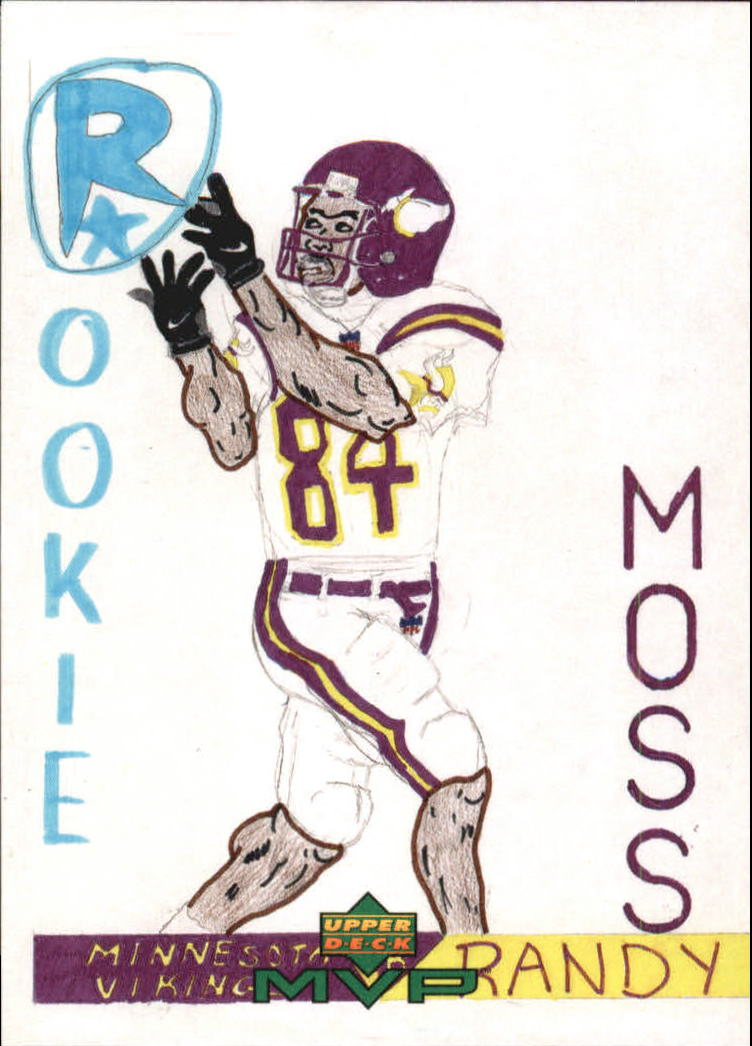 1999 Upper Deck MVP Draw Your Own Card #W17 Randy Moss