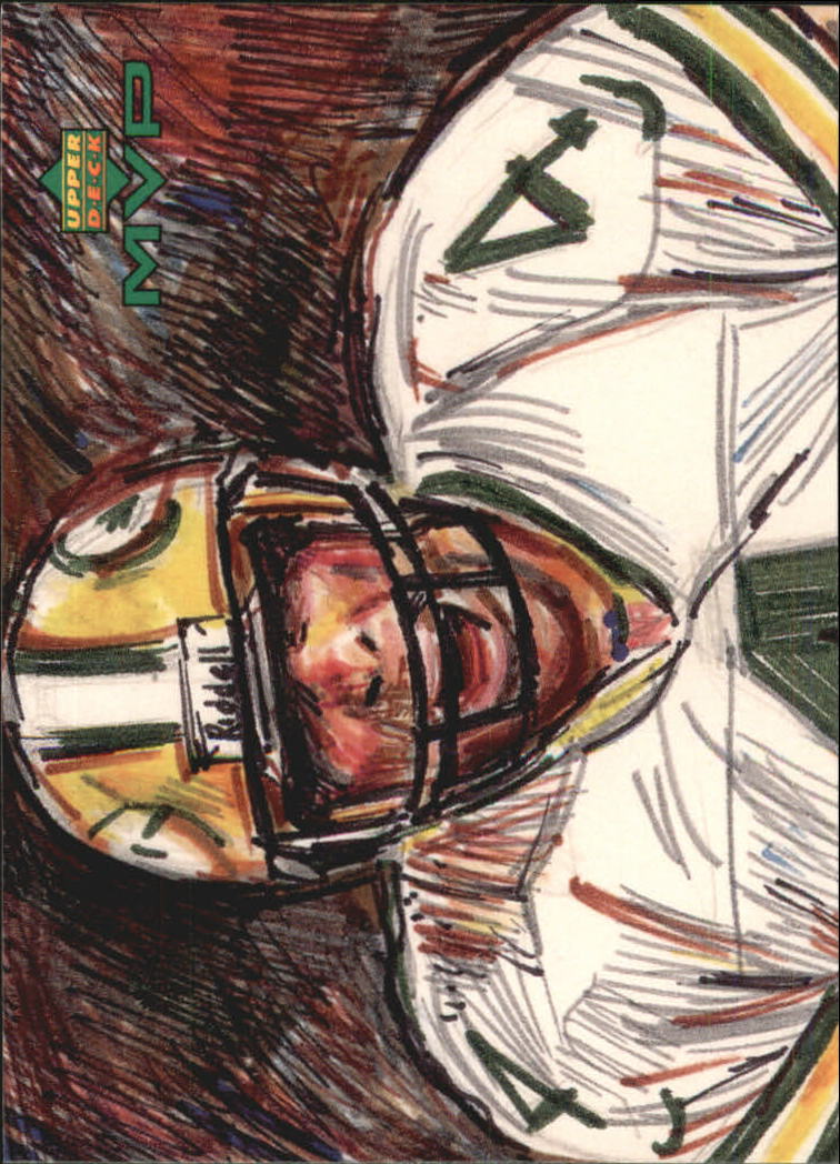 1999 Upper Deck MVP Draw Your Own Card #W21 Brett Favre