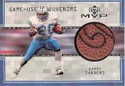 1999 Upper Deck MVP Game Used Souvenirs #BSS Barry Sanders