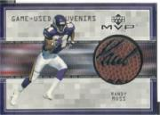 1999 Upper Deck MVP Game Used Souvenirs #RMS Randy Moss front image