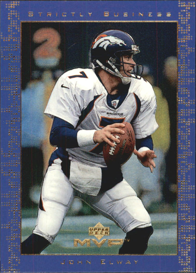 1999 Upper Deck MVP Strictly Business #SB12 John Elway