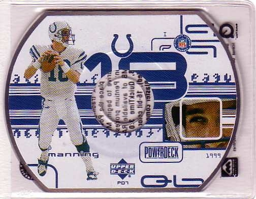 1999 Upper Deck PowerDeck #PD7 Peyton Manning
