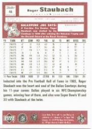 1999 Upper Deck Retro #46 Roger Staubach back image