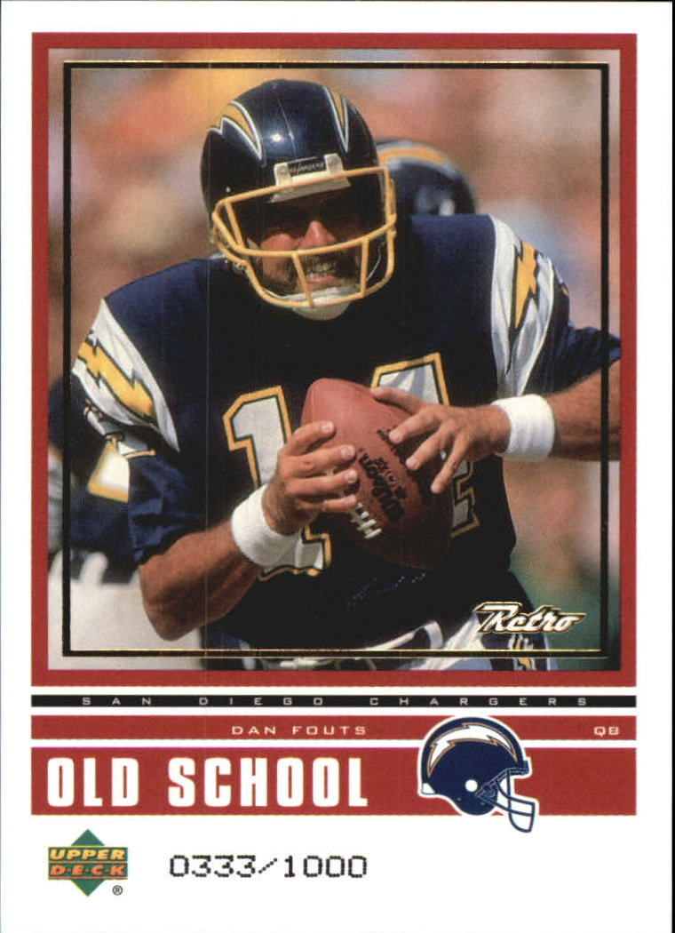 1999 Upper Deck Retro Old School/New School #ON14 Dan Fouts/Akili Smith