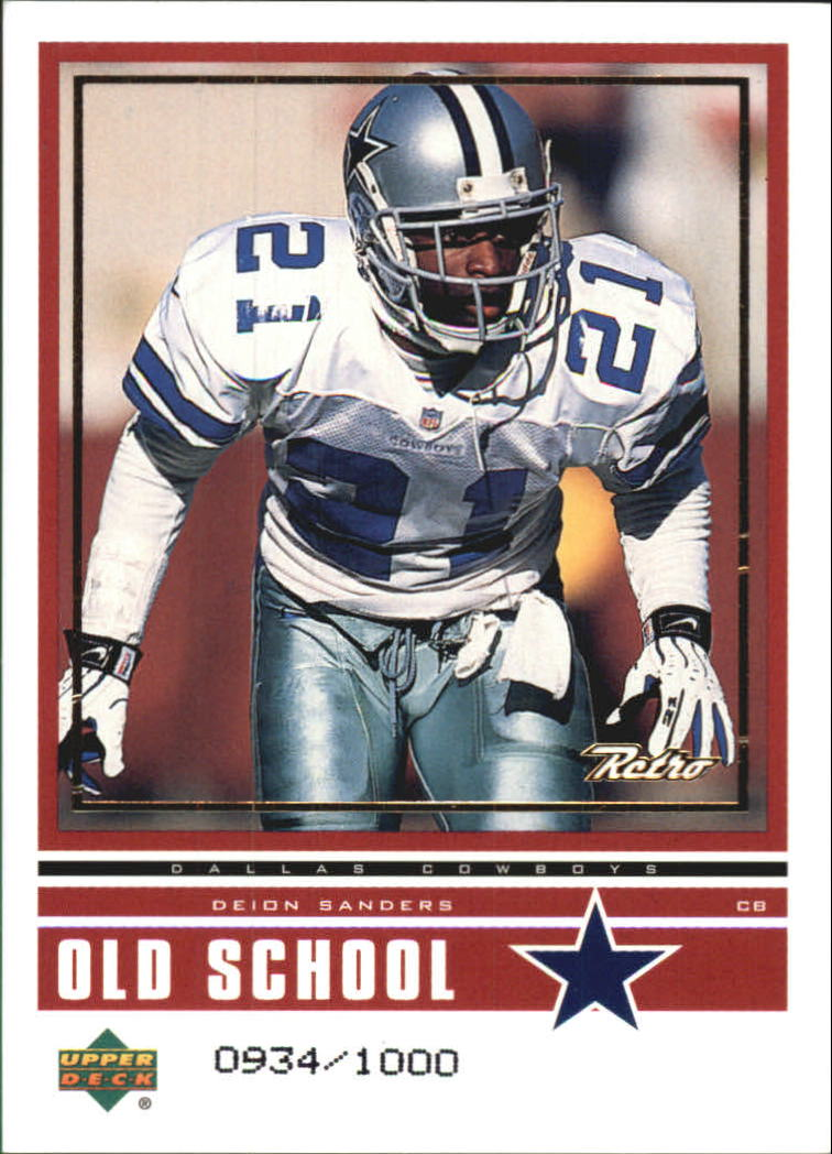 1999 Upper Deck Retro Old School/New School #ON17 D.Sanders/C.Bailey