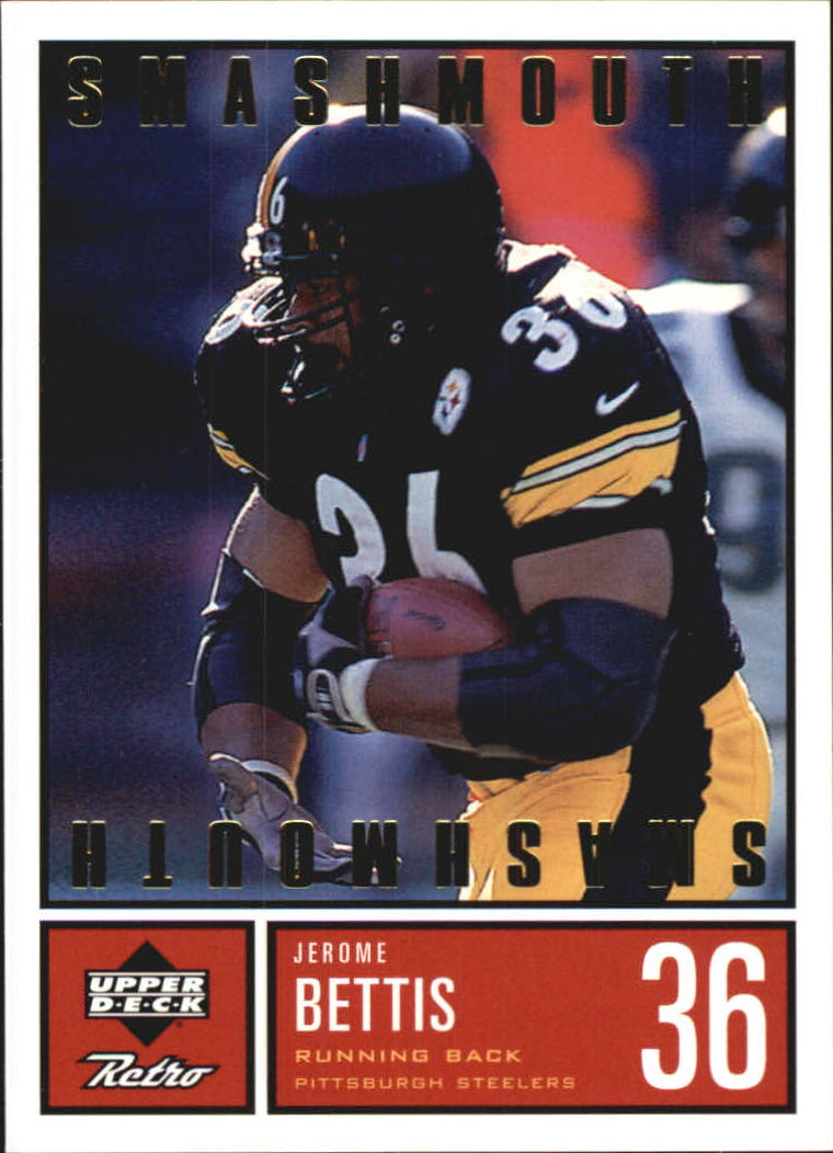 1999 Upper Deck Retro Smashmouth #S12 Jerome Bettis