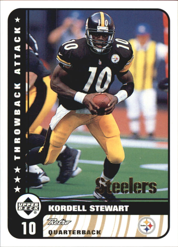 1999 Upper Deck Retro Throwback Attack #T8 Kordell Stewart