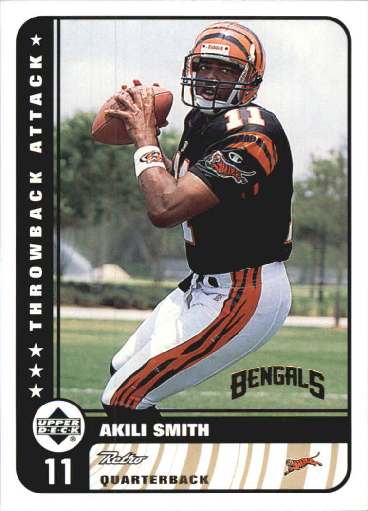 1999 Upper Deck Retro Throwback Attack #T15 Akili Smith