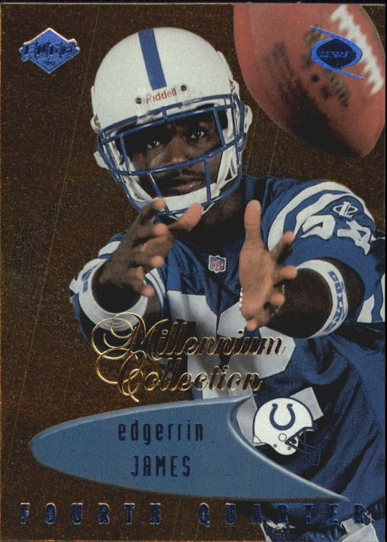 1999 Collector's Edge Millennium Collection Odyssey Blue #190 Edgerrin James 4Q