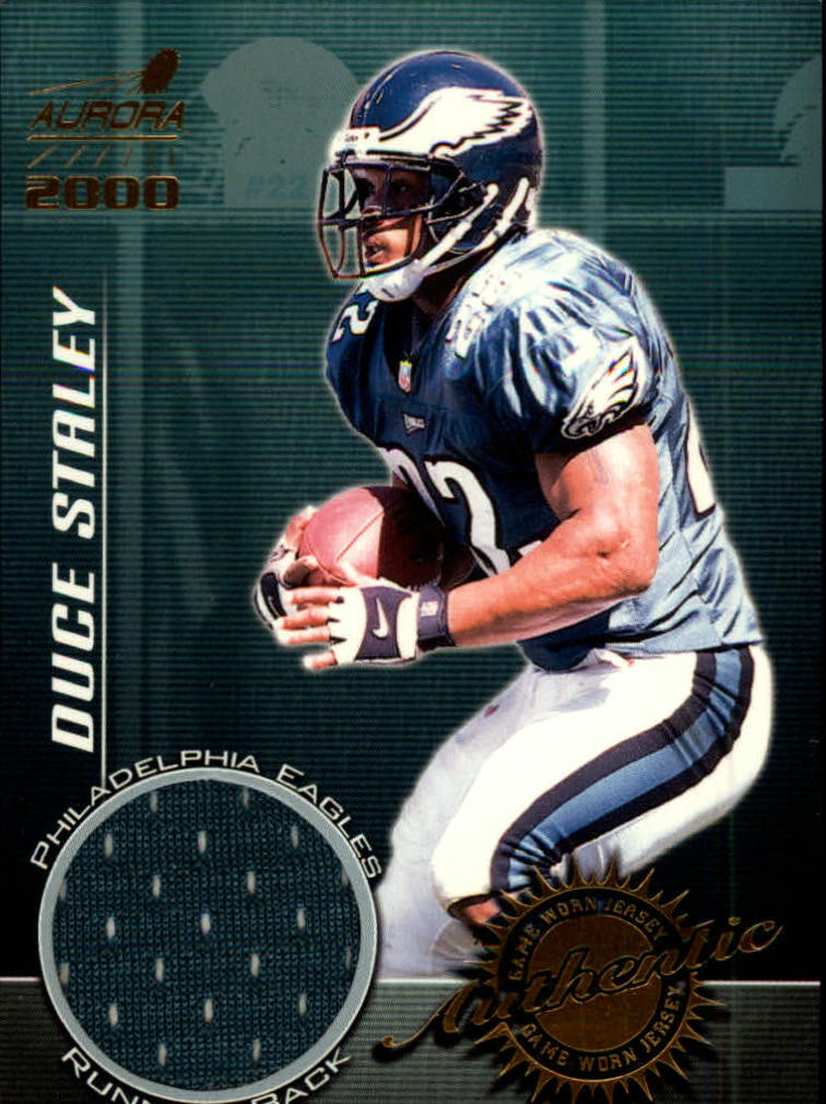 2000 Aurora Game Worn Jerseys #8 Duce Staley