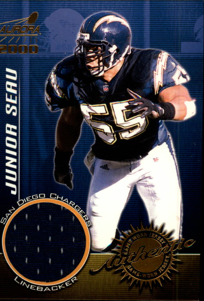 2000 Aurora Game Worn Jerseys #9 Junior Seau