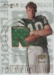 2000 Black Diamond #156 Chad Pennington JSY RC