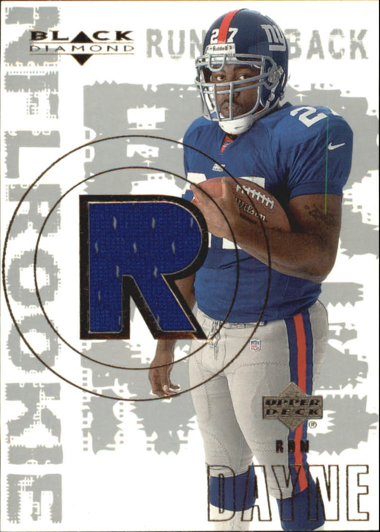 2000 Black Diamond #158 Ron Dayne JSY RC