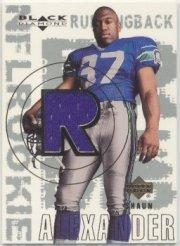 2000 Black Diamond #159 Shaun Alexander JSY RC