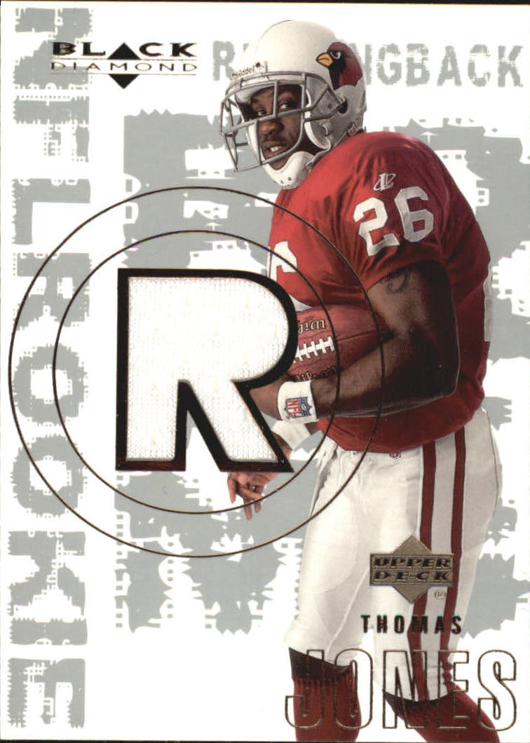 2000 Black Diamond #160 Thomas Jones JSY RC