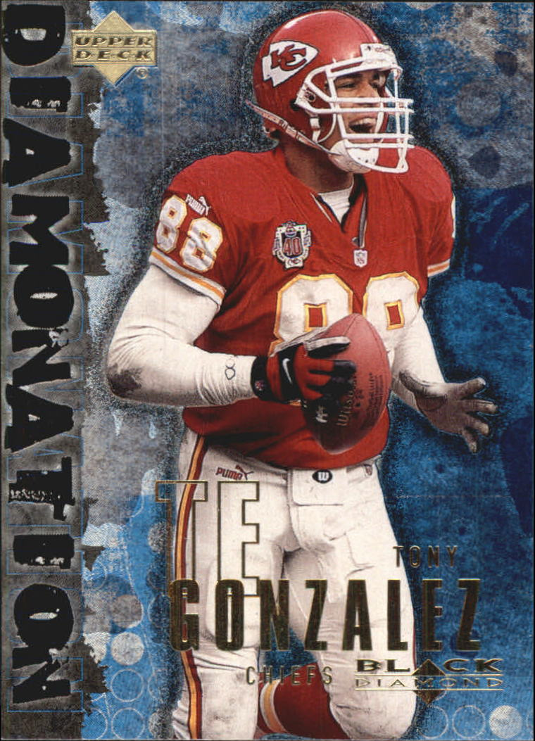 2000 Black Diamond Diamonation #D10 Tony Gonzalez