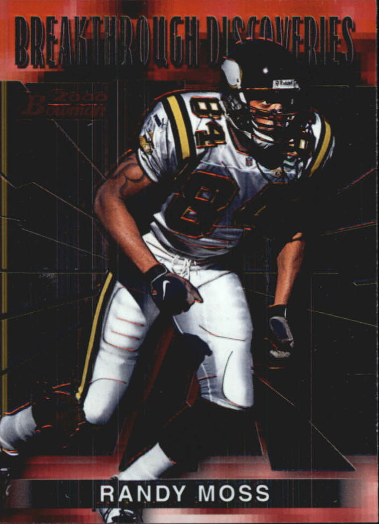 2000 Bowman Breakthrough Discoveries #BD10 Randy Moss